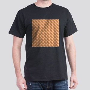 Floral Patern in Orange and Brown. T-Shirt