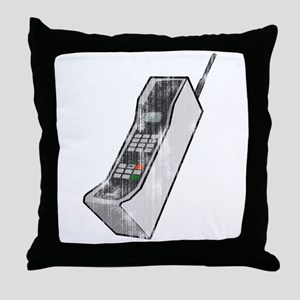 Worn 80's Cellphone Throw Pillow