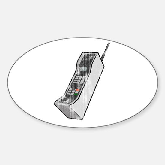 Worn 80's Cellphone Oval Decal
