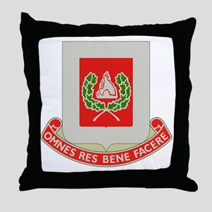 27th Army Engineer Battalion Military Throw Pillow