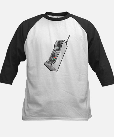Worn 80's Cellphone Kids Baseball Jersey