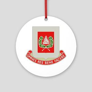 27th Army Engineer Battalion Milita Round Ornament
