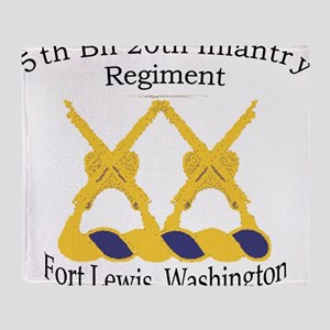5th Bn 20th INF Throw Blanket