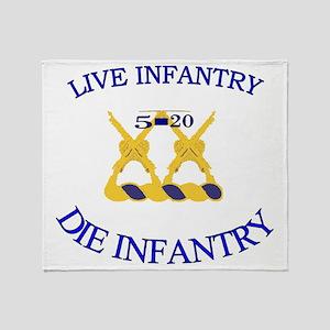 5th Bn 20th INF cap4 Throw Blanket