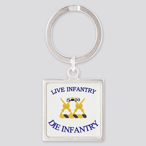 5th Bn 20th INF cap4 Square Keychain