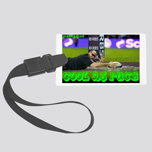 Rugby: Cool as Ruck Large Luggage Tag