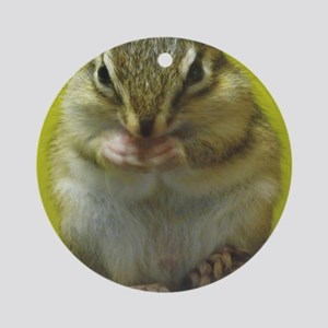 Chipmk mouse Round Ornament