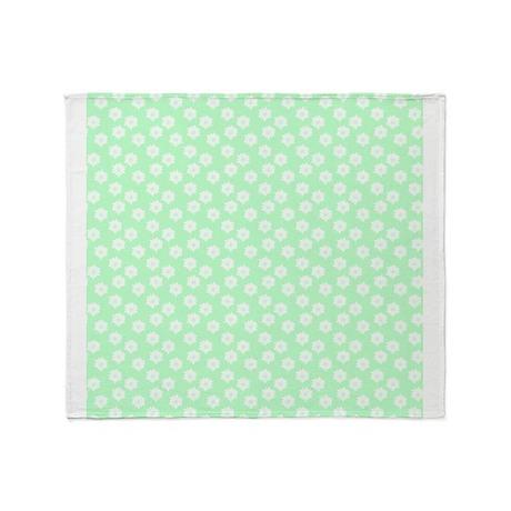 Pastel Mint Green Throw Blankets Pastel Mint Green Fleece