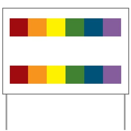 lgbt equality_dark Yard Sign