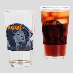Soul Music - Navy Drinking Glass