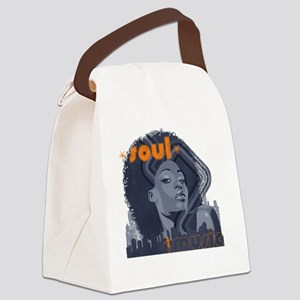 Soul Music - Navy Canvas Lunch Bag