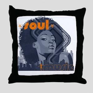 Soul Music - Navy Throw Pillow