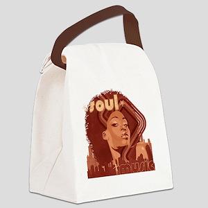 Soul Music - Pomegranate Canvas Lunch Bag