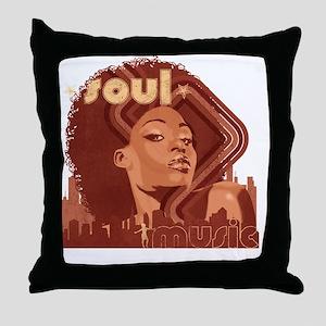 Soul Music - Pomegranate Throw Pillow
