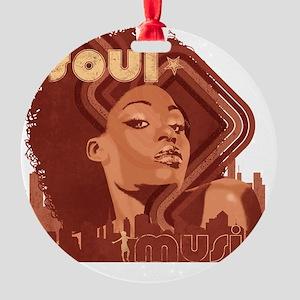 Soul Music - Pomegranate Round Ornament