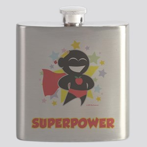 Teaching-Is-My-Superpower-blk Flask