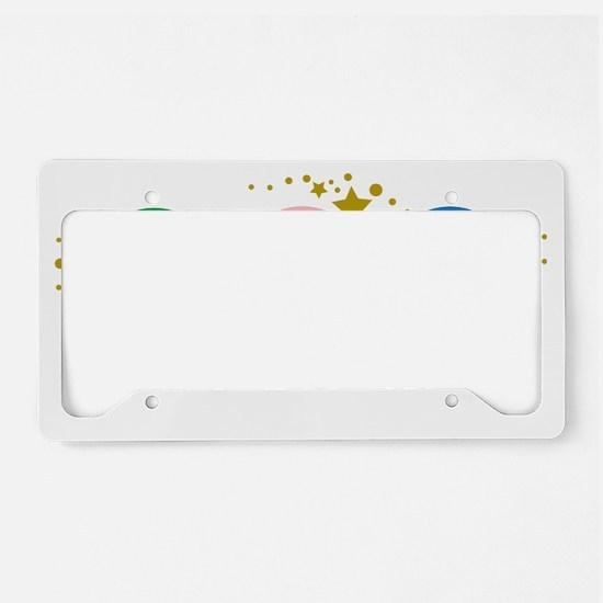 Peace-Love-Teach-blk License Plate Holder