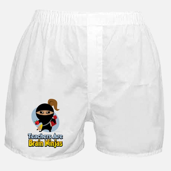 Teachers-Are-Brain-Ninjas Boxer Shorts