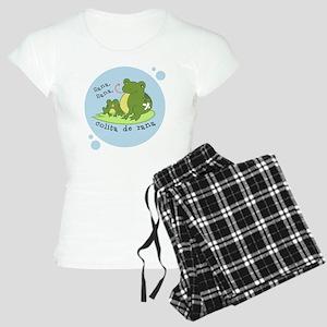 frog_bluebubble_forwhitebg Women's Light Pajamas