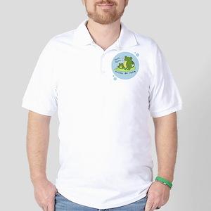 frog_bluebubble_forwhitebg Golf Shirt