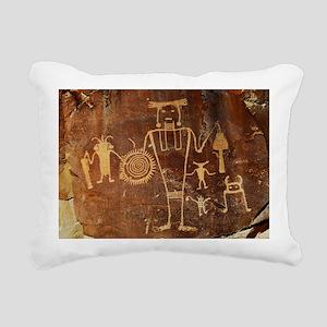 Fremont Rock Art 2x8pt31 Rectangular Canvas Pillow