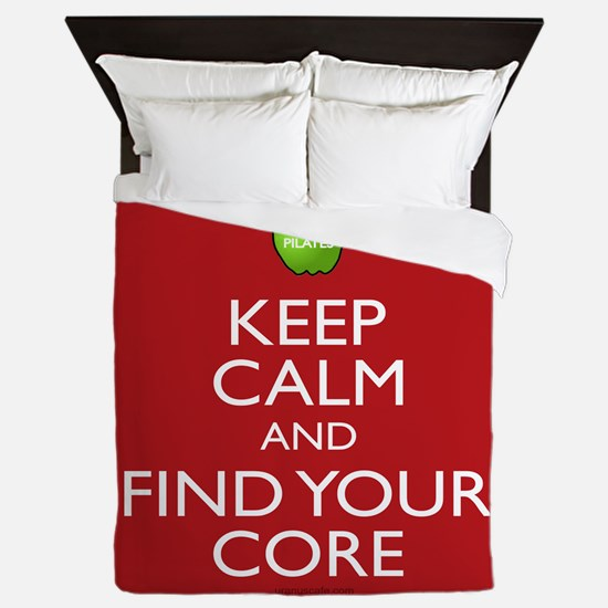 Pilates Find Your Core Queen Duvet