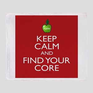Pilates Find Your Core Throw Blanket