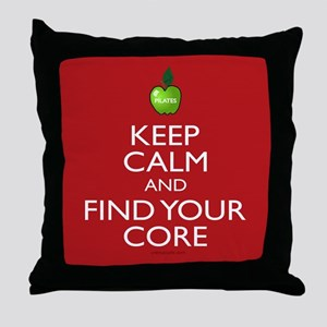 Pilates Find Your Core Throw Pillow