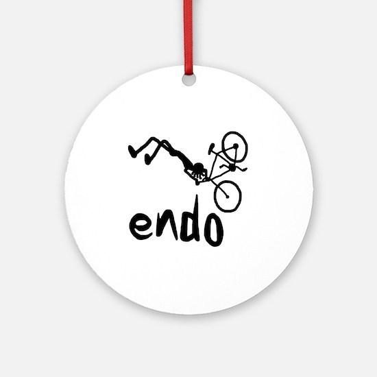 Endo_Stick_figure Round Ornament