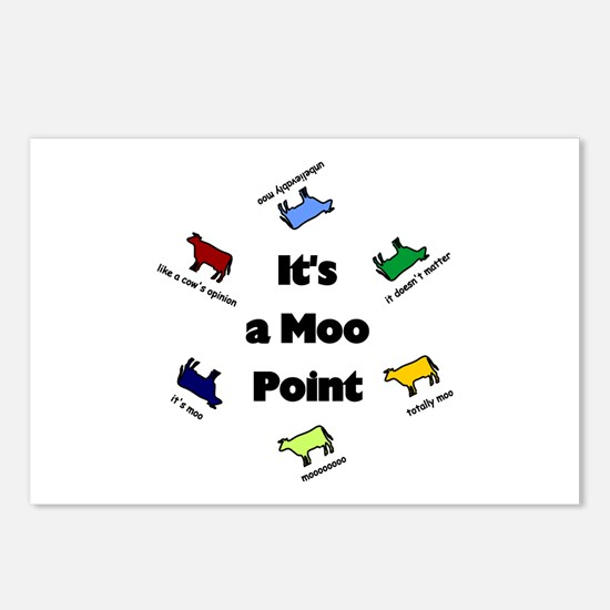 It's a Moo Point Postcards (Package of 8)