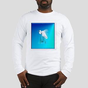 Heart JewelGreat Egret Long Sleeve T-Shirt