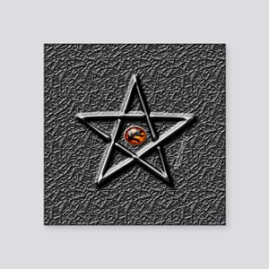 "elderSignButton Square Sticker 3"" x 3"""