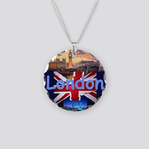 LONDON Necklace Circle Charm