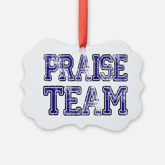 Praise Team Blue Ornament