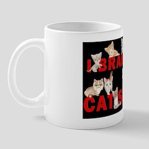 Brake for cat shows large car magnet Mug