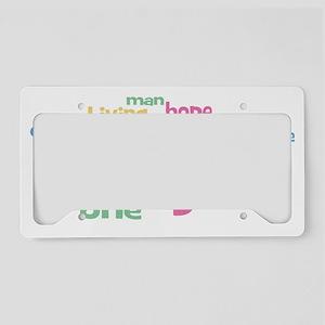 Imagine_white License Plate Holder
