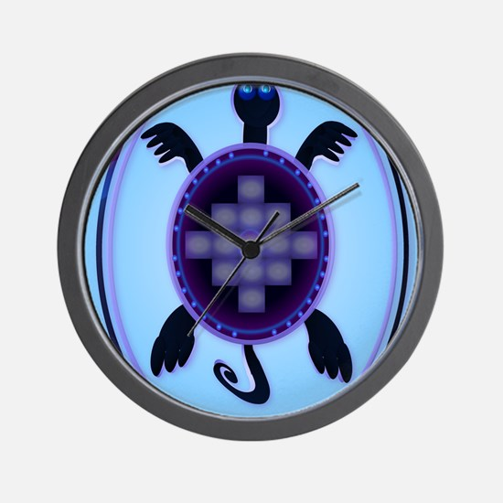 Courageous Turtle PosterP Wall Clock