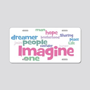 Imagine_black Aluminum License Plate