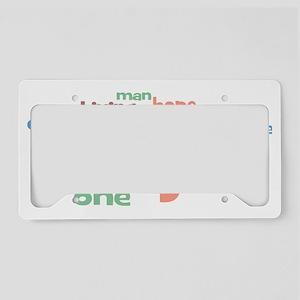 Imagine_white_mens License Plate Holder
