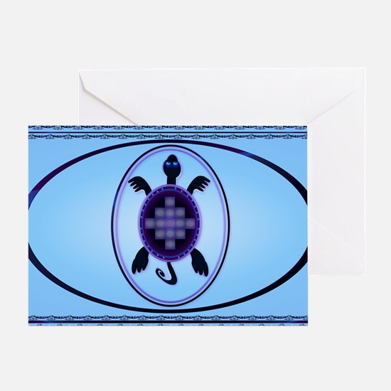 Wall Peel Courageous Turtle Oval Greeting Card