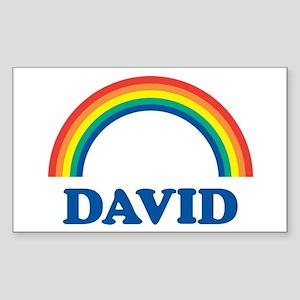 DAVID (rainbow) Rectangle Sticker