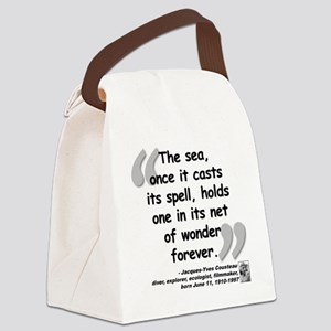 Cousteau Sea Quote Canvas Lunch Bag