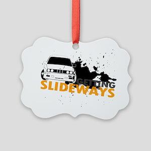BMW Getting Slideways Picture Ornament