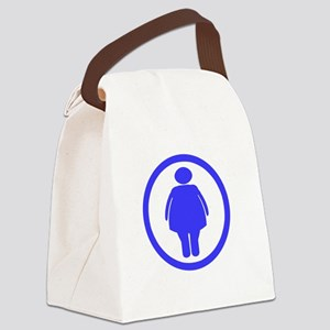 Dont worry _Fat chick_drk Canvas Lunch Bag