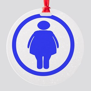 Dont worry _Fat chick_drk Round Ornament