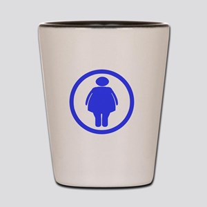 Dont worry _Fat chick_drk Shot Glass