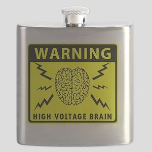 Warning High Voltage Brain Flask