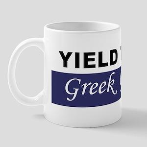 Yield To The Greek Goddess Mug