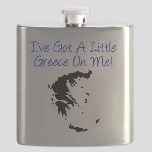 Little Greece Baby Shirt Flask