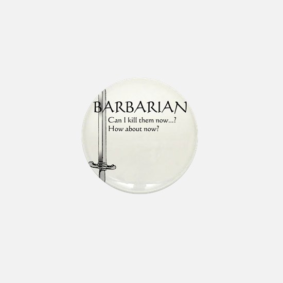 Barbarian Black Mini Button